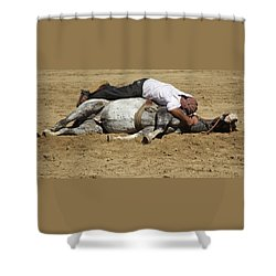 The Horse Whisperer Shower Curtain by Venetia Featherstone-Witty