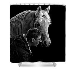 The Horse Whisperer Extraordinaire Shower Curtain