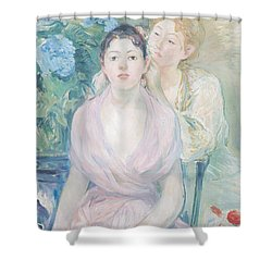 The Hortensia Shower Curtain by Berthe Morisot