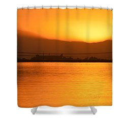 Shower Curtain featuring the photograph The Hour Is Golden by AJ  Schibig