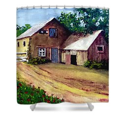 The House Barn Shower Curtain