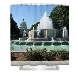 The House Of Democracy Shower Curtain by Rod Jellison
