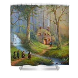 The House Of Tom Bombadil.  Shower Curtain by Joe  Gilronan