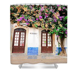 The House With The Bougainvillea Shower Curtain
