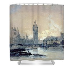 The Houses Of Parliament Shower Curtain by David Roberts