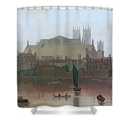 The Houses Of Parliament Shower Curtain by George Fennel Robson