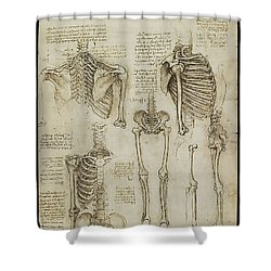 The Human Ribcage Shower Curtain by James Christopher Hill