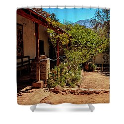 The Humble Home Of A Poet - Elqui Valley, Chile Shower Curtain