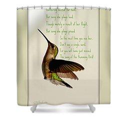 The Hummingbird Shower Curtain