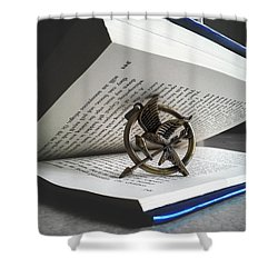 The Hunger Book Shower Curtain
