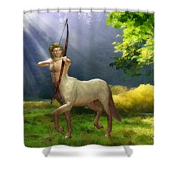 The Hunter Shower Curtain by John Edwards