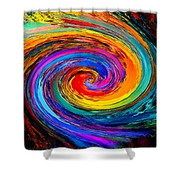 The Hurricane - Abstract Shower Curtain
