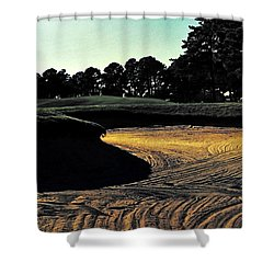 The Hustle And Bustle Has Come To An End On The Golf Course Shower Curtain