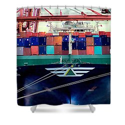 Shower Curtain featuring the photograph The Hyundai Faith Seattle Washington by Michael Rogers