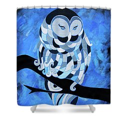 The Ice Owl Shower Curtain