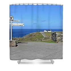 The Iconic Lands End Shower Curtain by Terri Waters