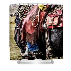 The Idaho Cowboy Western Art By Kaylyn Franks Shower Curtain
