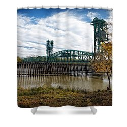 Shower Curtain featuring the photograph The Illinois River by Cindy Lark Hartman