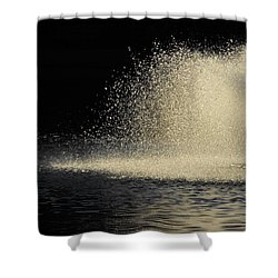 The Illusion Of Dark And Light With Water Shower Curtain