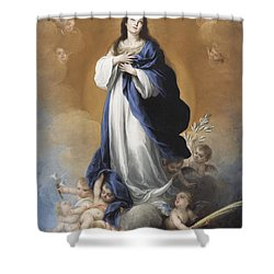 The Immaculate Conception  Shower Curtain by Bartolome Esteban Murillo