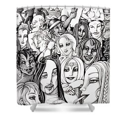 The In Crowd Shower Curtain