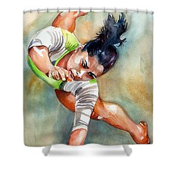 The Indian Gymnast Shower Curtain