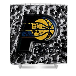 The Indiana Pacers Shower Curtain by Brian Reaves
