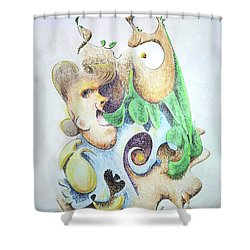 The Infection Shower Curtain