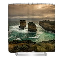 The Inlet Shower Curtain by Andrew Matwijec