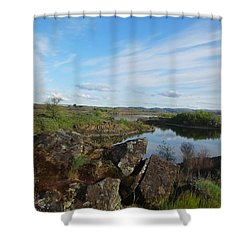 The Inlet Watchers Shower Curtain