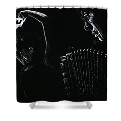 The Intensity Of Flamenco Shower Curtain by Richard Young