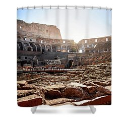 The Interior Of The Roman Coliseum Shower Curtain