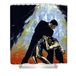 The Intoxication Of Tango Shower Curtain by Richard Young