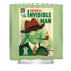 Shower Curtain featuring the painting The Invisible Man by Gerald Gregg
