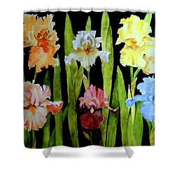 The Iris Garden Shower Curtain