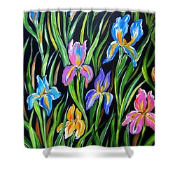 The Irises Shower Curtain