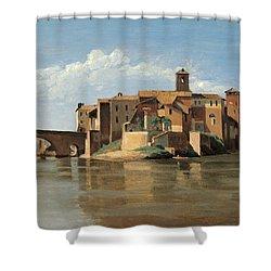 The Island And Bridge Of San Bartolomeo Shower Curtain
