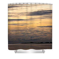 The Island Shower Curtain by Konstantin Dikovsky