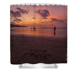 The Island Of God #15 Shower Curtain
