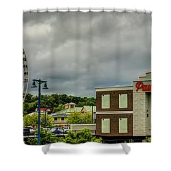The Island Pigeon Forge Tn Shower Curtain