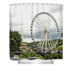 The Island Smoky Mountain Wheel Shower Curtain