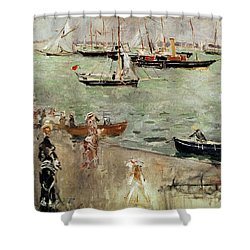 The Isle Of Wight Shower Curtain by Berthe Morisot