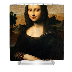 The isleworth mona lisa painting by leonardo da vinci for Mona lisa shower curtain