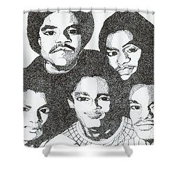 The Jacksons Tribute Shower Curtain