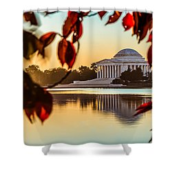 Jefferson In Autumn Shower Curtain