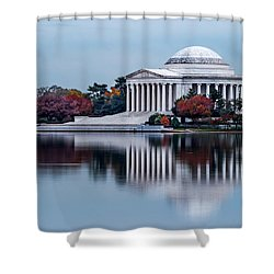 The Jefferson In Baby Blue Shower Curtain by Ed Clark