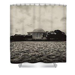 The Jefferson Memorial Shower Curtain by Bill Cannon