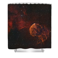 The Jellyfish Nebula Shower Curtain by Rolf Geissinger
