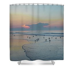 Shower Curtain featuring the photograph The Jersey Shore - Wildwood by Bill Cannon