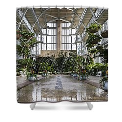 The Jewel Box Fountain Shower Curtain